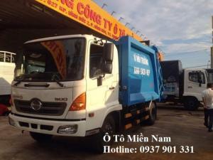 Xe ép rác Hino 9m3 - Hỗ trợ mua xe trả góp lãi suất thập