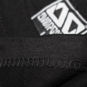 Áo thun OverDose Thái Lan màu đen in hình thoi bảy màu lồng ghép vào nhau T0034