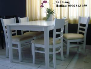 Bộ bàn ghế gỗ cabin dành cho phòng ăn