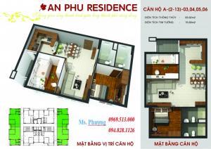 Cần bán căn hộ 73m2, 2 pn, khu chung cư An Phú cạnh siêu thị Coopmart Khai Quang
