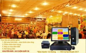 Máy cảm ứng tính tiền, quản lý và phần mềm kiểm soát doanh thu cho nhà hàng