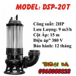 Bơm chìm hút hố móng bùn đặc DSP-20T 2HP