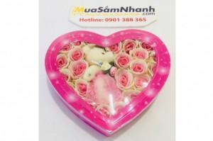 Hoa Hồng Trái Tim Kèm Gấu, Hộp Giáy Xinh Xắn - MSN1831033