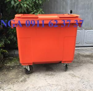 Thanh lý bán thùng rác môi trường 660 lít  tại đà nẵng giảm giá mạnh