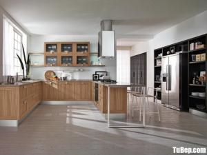Tủ bếp gỗ Xoan Đào thiết kế bán cổ điển – TBT48