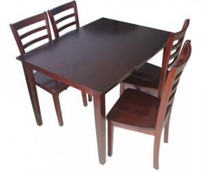 Bàn ghế gỗ thông giá cả phải chân