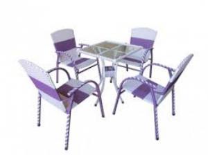 bàn ghế mây nhựa làm theo mẫu giá rẻ