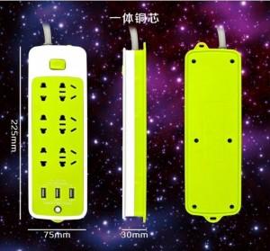 Sử dụng các linh kiện cao cấp của Sam sung , Aishi , Ổ CẮM ĐIỆN 6 PHÍCH CẮM, 3 CỔNG USB có khả năng tự điều chỉnh sao cho phù hợp nhất với các thiết bị di động như iphone, ipad, các điện thoại di động Samsung, HTC, LG …