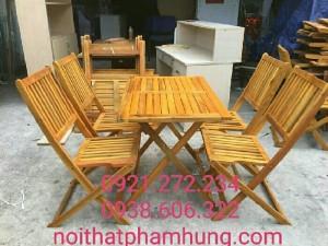 Bàn ghế gỗ cafe thanh lý 58 bộ