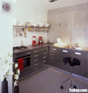 Tủ bếp gỗ Laminate chữ L thiết kế phù hợp với không gian hẹp – TBT50