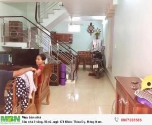 Bán nhà 3 tầng, 56m2, ngõ 174 Khúc Thừa Dụ, Đông Nam.