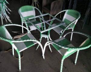 Bàn ghế nhựa giả mây nhận làm theo mẫu mả của khách hàng