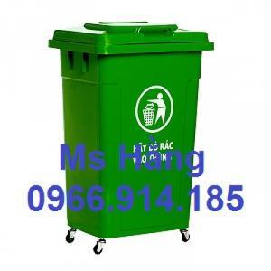 Thùng đẩy rác công cộng dung tích 90L có bánh xe