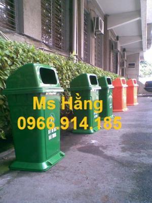 Thùng rác công cộng 95L nắp hở cố định giá rẻ