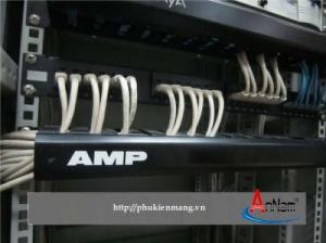 Phân phối thanh quản lý cáp, thanh đấu nối Patch Panel CommScope/AMP Cat5/Cat6