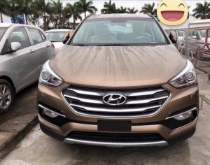 Hyundai Santafe 2017, máy dầu, màu cát