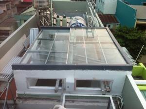 Đơn vị sản xuất giếng trời bằng mica