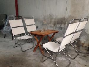 bàn ghế xếp inox giá rẻ đẹp