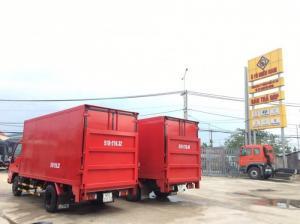 Xe tải isuzu 1.9 tấn bửng nâng - xe tải isuzu 1.9 tấn bửng nâng thùng kín.