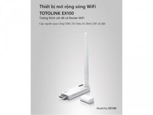 Thiết bị tăng sóng Wifi Repeater TOTOLINK EX100