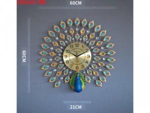 Lý do khác - Đồng hồ trang trí Công xanh S301