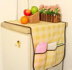 Tấm phủ tủ lạnh caro là sản phẩm hữu ích bảo vệ tủ lạnh của bạn sẽ tránh khỏi nguy cơ bị bụi phủ gây mất vệ sinh và đôi khi làm hỏng điện máy bên trong.