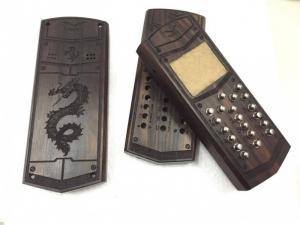 Vỏ gỗ điện thoại 1202, 1280 bằng gỗ Mun