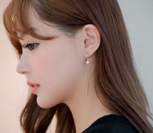 [Bạc 925] Bông Tai Ngọc Trai Shin Min Ah