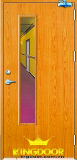cửa gỗ hoặc thép chống cháy