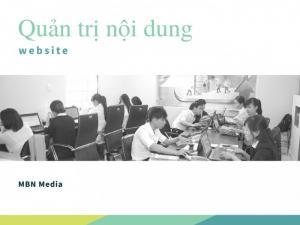 Dịch vụ quản trị nội dung website | MBN Media