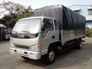 Bán trả góp xe tải Jac 7tấn25 thùng bạt từ 70-90% giá trị xe