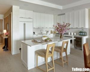 Tủ bếp Acrylic bóng gương trắng sáng – TBN0052
