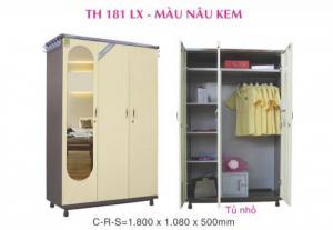 tủ sắt Trung Hưng ngang 1m8x1m08 màu hồng , TH18-VK