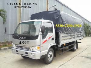 JAC tải trọng 4T99 thùng dài 5,3m