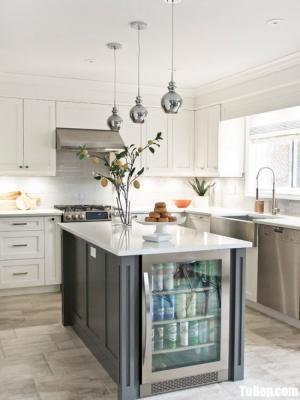 Tủ bếp Tần bì sơn trắng sang trọng – TBN0055