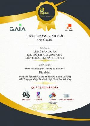 Ngày 19/11 chính thức Mở bán dự án Kim Long City Liên hệ nhận thư mời tham dự