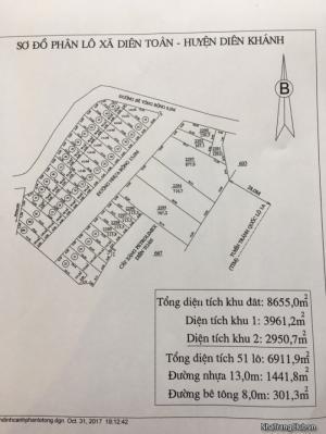 Mở bán khu dân cư Diên Toàn - Diên Khánh