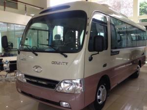 Giá xe khách Hyundai 29 chỗ, Hyundai County HB73S dài 7.3 m, hỗ trợ trả góp 80% giá trị xe