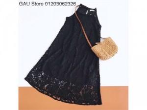 Đầm Maxi Ren Cổ Yếm