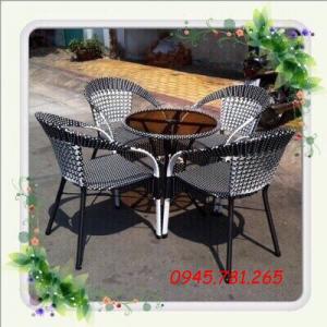 Bàn ghế cafe , bàn ghế nhựa mây cao cấp
