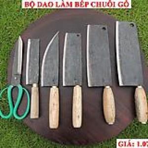 Bộ dao làm bếp chuôi gỗ Phúc Sen