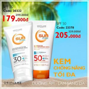 Kem chống nắng Sun Zone  SPF 30 High
