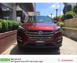 Bán Hyundai Tucson 2017 màu đỏ giao ngay!