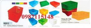bán thùng nhựa công nghiệp HS012