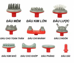 Thiết kế 10 đầu massage phù hợp với nhiều kiểu masage khác nhau, thao tác đơn giản, dễ sử dụng, phù hợp cho nhiều đối tượng sử dụng.