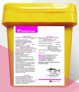 SULFASOL (Diệt khuẩn, trị nấm, trị nấm mốc): Potassium Monopersulphate