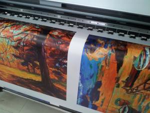 In tranh phẳng - in tranh sơn dầu 3d trên nền vải canvas