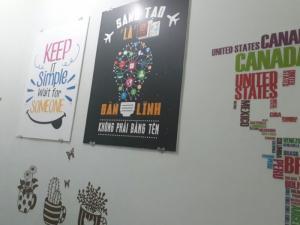 In tranh tối giản trang trí văn phòng khởi nghiệp