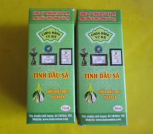 Tinh dầu SẢ- sử dụng khi bị nhức đầu cảm, sổ mũi, khử trùng, khử múi