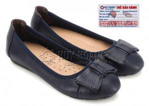 Giày nữ búp bê Huy Hoàng da bò màu xanh đen MH7908